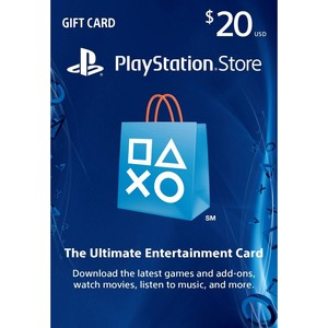 Sony PS Network Live Card USD 20