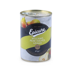 Epicure  Williams Pear Halves in Fruit Juice 411g