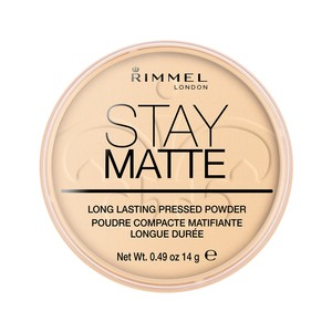 Rimmel London Stay Matte Pressed Powder Shade 001 Transparent 14g