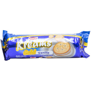 Parle Kreams Biscuits Gold Vanilla  67g