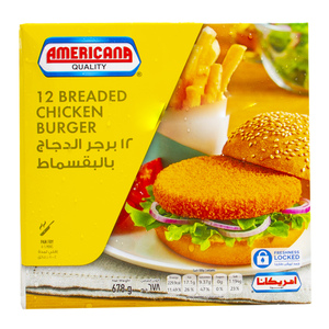 Americana Breaded Chicken Burger 678g