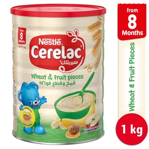Nestle Cerelac Wheat & Fruit Pieces 1kg