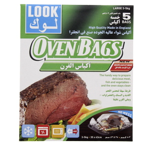 Look Oven Bags Large Size 35 x 43cm 5pcs