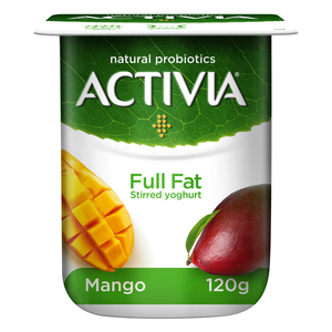 Activia Stirred Yoghurt Full Fat Mango 120g