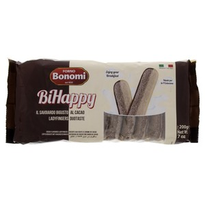 Forno Bonomi Cocoa Flavoured Lady Finger Biscuit 200g