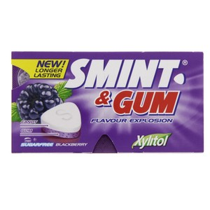 Smint Blackberry Sugar Free Gum 13.9g