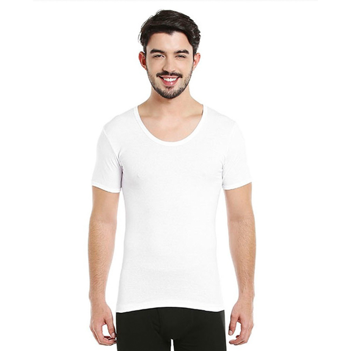 BYC Men's U-Neck T.Shirt 111MU-1100 Large