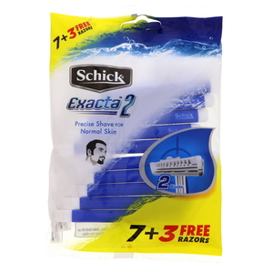 Schick Exacta-II Disposable Razor 7pcs + 3 Twin Pack