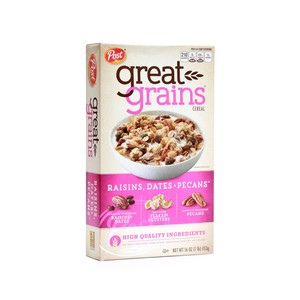 Post Great Grains Cereal Rasins, Dates, Pecans 453g
