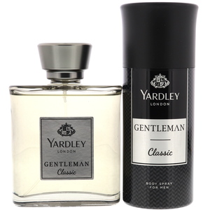 Yardley Gentleman Classic EDT 100ml + Deodorant Body Spray For Men 150ml