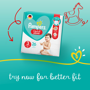 Pampers Baby-Dry Diapers Up to 100% Leakage Protection Over 12 Hours Size 6 13+kg 36pcs
