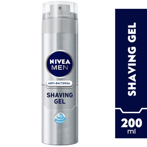 Nivea Men Anti-Bacterial Shaving Gel Silver Protect 200ml