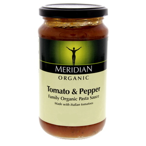 Meridian Organic Pasta Sauce Tomato And Pepper 440g