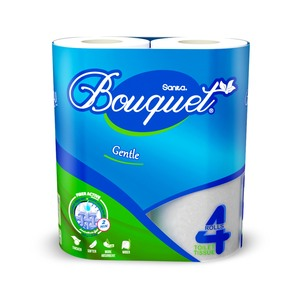 Sanita Bouquet Toilet Tissue Gentle 4pcs
