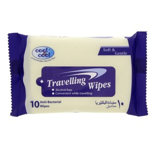 Cool & Cool Travelling Wipes Soft & Gentle 10pcs