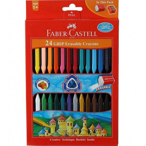 Faber-Castell Grip Erasable Crayons 24's 122924