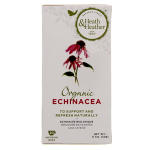 Heath & Heather Tea Bag Organic Echinacea 20 Tea Bags