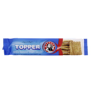 Bakers Topper Vanilla Flavoured Cream Biscuits 125g