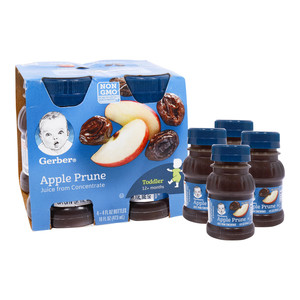 Gerber Baby Juice Apple& Prune 4 x 118ml