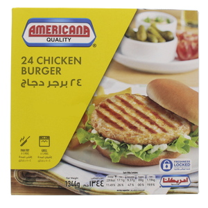 Americana Chicken  Burger 24 Pcs 1344g