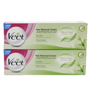 Veet Hair Removal Cream Dry Skin 2 x 100g