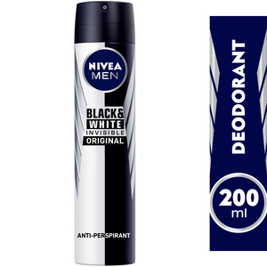 Nivea Men Invisible For Black&White Deodorant 200ml