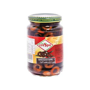 Crespo Sliced Black Olives 354g