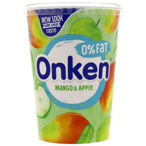 Onken Mango & Apple Biopot Yoghurt Fat Free 450g