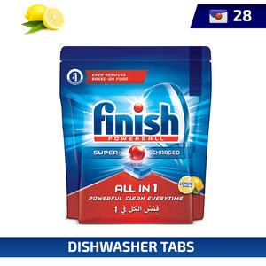 Finish Dishwasher Detergent  Tabs Lemon 28Tabs 448g