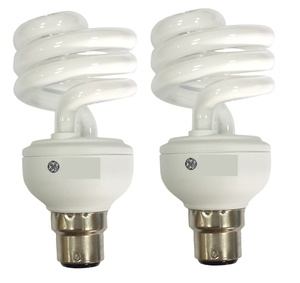 Ge Energy Saving Spiral CFL Bulb 20W-B22 2pcs