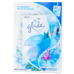 Glade Hang It Cool Fresh Fragrance Beads In Pouch 8g