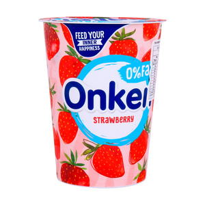 Onken 0% Fat Strawberry Biopot Yogurt 450g