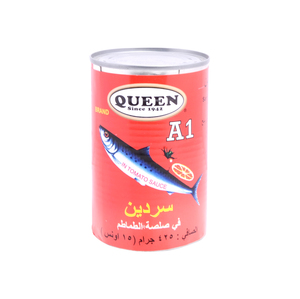 Queen A1 Sardines in In Tomato Sauce 425g