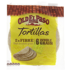 Old El Paso Whole Grain Tortillas 240g