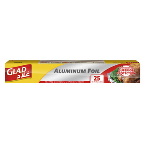 Glad Aluminum Foil Size 30cm x 7.7m 25 sq. ft. 1pc