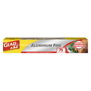 Glad Aluminum Foil Size 30cm x 23.2m 75 sq. ft. 1pc
