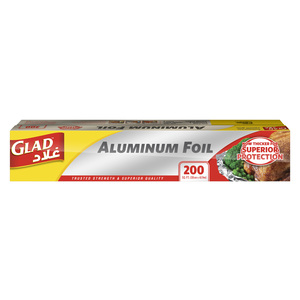 Glad Aluminum Foil Size 30cm x 61.9m 200 sq. ft. 1pc