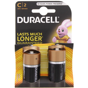 Duracell Ultra Battery C 2pc Pack