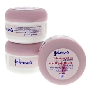 Johnson's 24 Hour Moisture Soft Cream 200 Ml 2 + 1