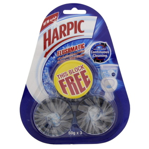 Harpick Toilet Blocks Original 50g X 3pcs