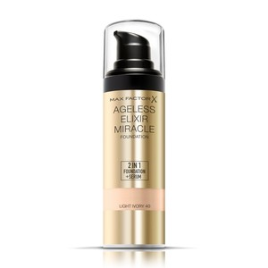 Max Factor Ageless Elixir 2 in 1 Liquid Foundation + Serum 40 Light Ivory 30ml