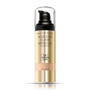 Max Factor Ageless Elixir 2 in 1 Liquid Foundation + Serum 50 Natural 30ml