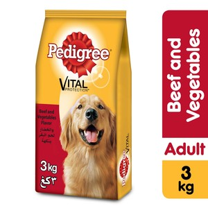 Pedigree Beef & Vegetables Dry Dog Food (Adult) 3kg