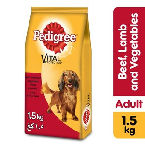 Pedigree Small Breed Beef Lamb & Vegetables Dry Dog Food (Adult) 1.5kg