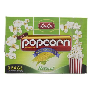 Lulu  Natural Microwave Pop Corn 297g