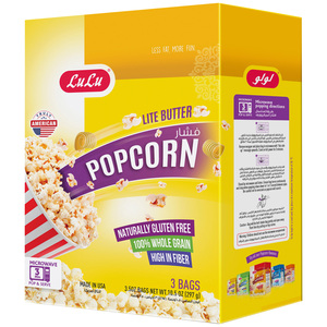 Lulu Microwavable Pop Corn Lite Butter 297g