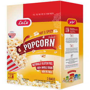 Lulu Microwavable Pop Corn Hot & Spicy 297g