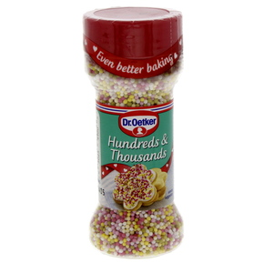 Dr.Oetker Hundreds & Thousands Coloured Sugar Balls 65 Gm
