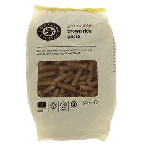 Doves Farm Organic Gluten Free Brown Rice Pasta 500g