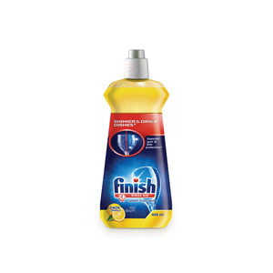 Finish Dishwasher Detergent Rinse Aid Liquid Lemon 400ml